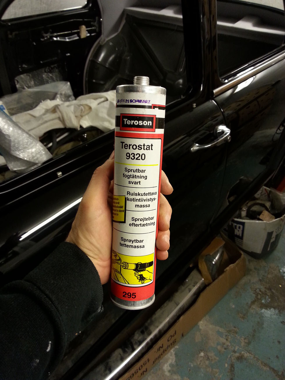 Mercedes Benz 219 Restoration Chassis Thinner Spies Hecker 1 Liter Teroson 9320 For Sealing And Sound Proofing
