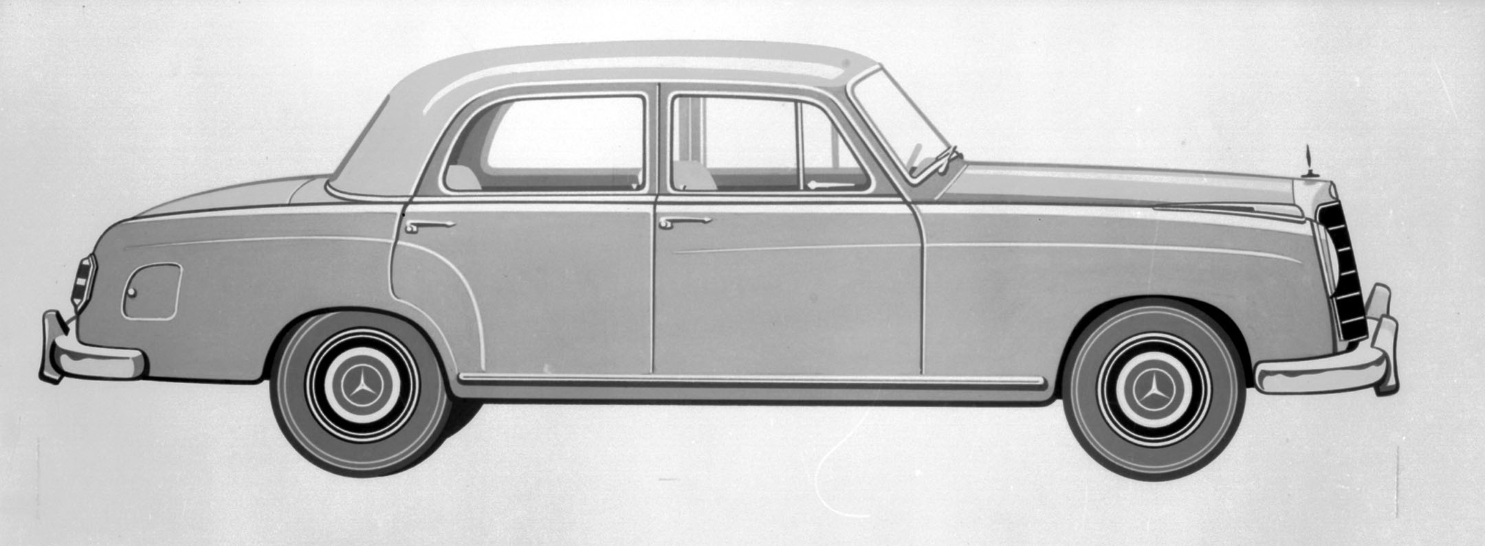 Drawing of Mercedes-Benz type 219, © Daimler AG