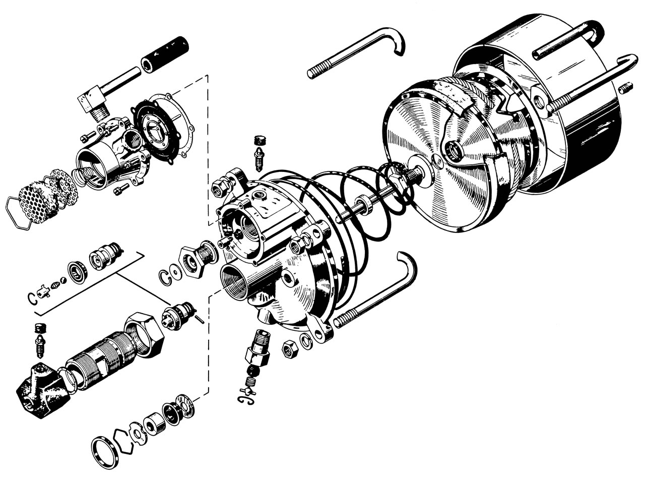 Drawing of ATE T50 brake booster, © Daimler AG
