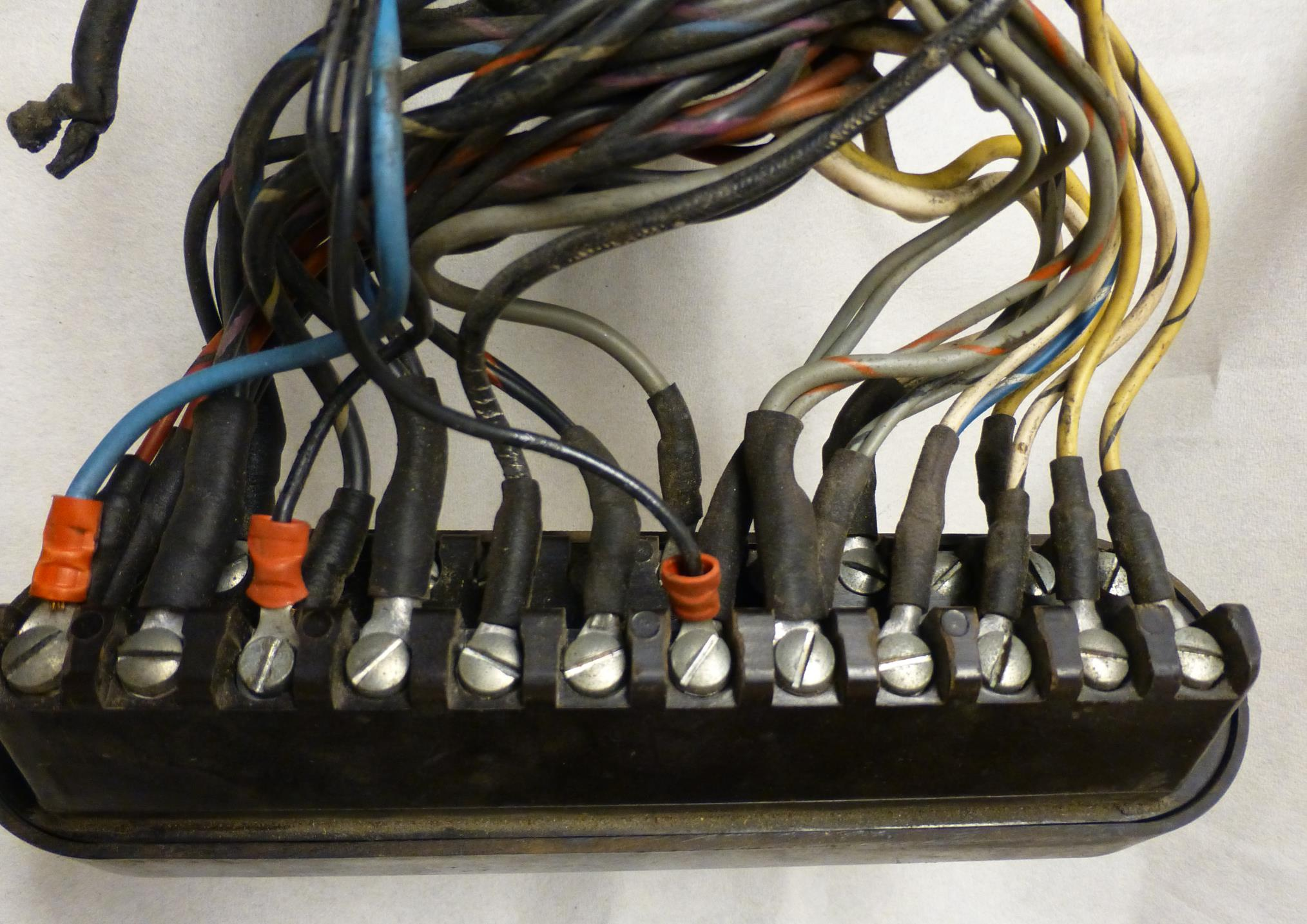 Mercedes Benz 219 Restoration Cables Cable Fuse Box The Old Harness Connection To