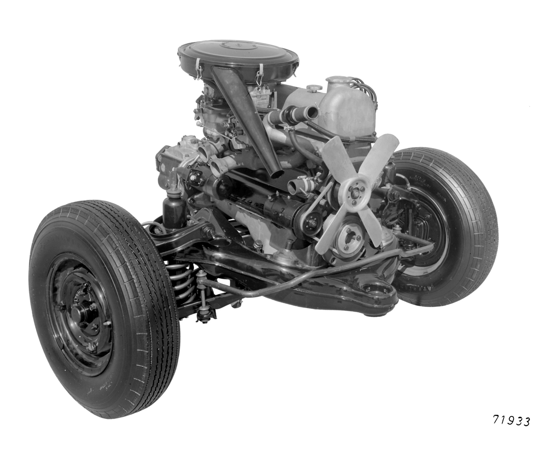 Front axle support Mercedes-Benz type 220S, © Daimler AG
