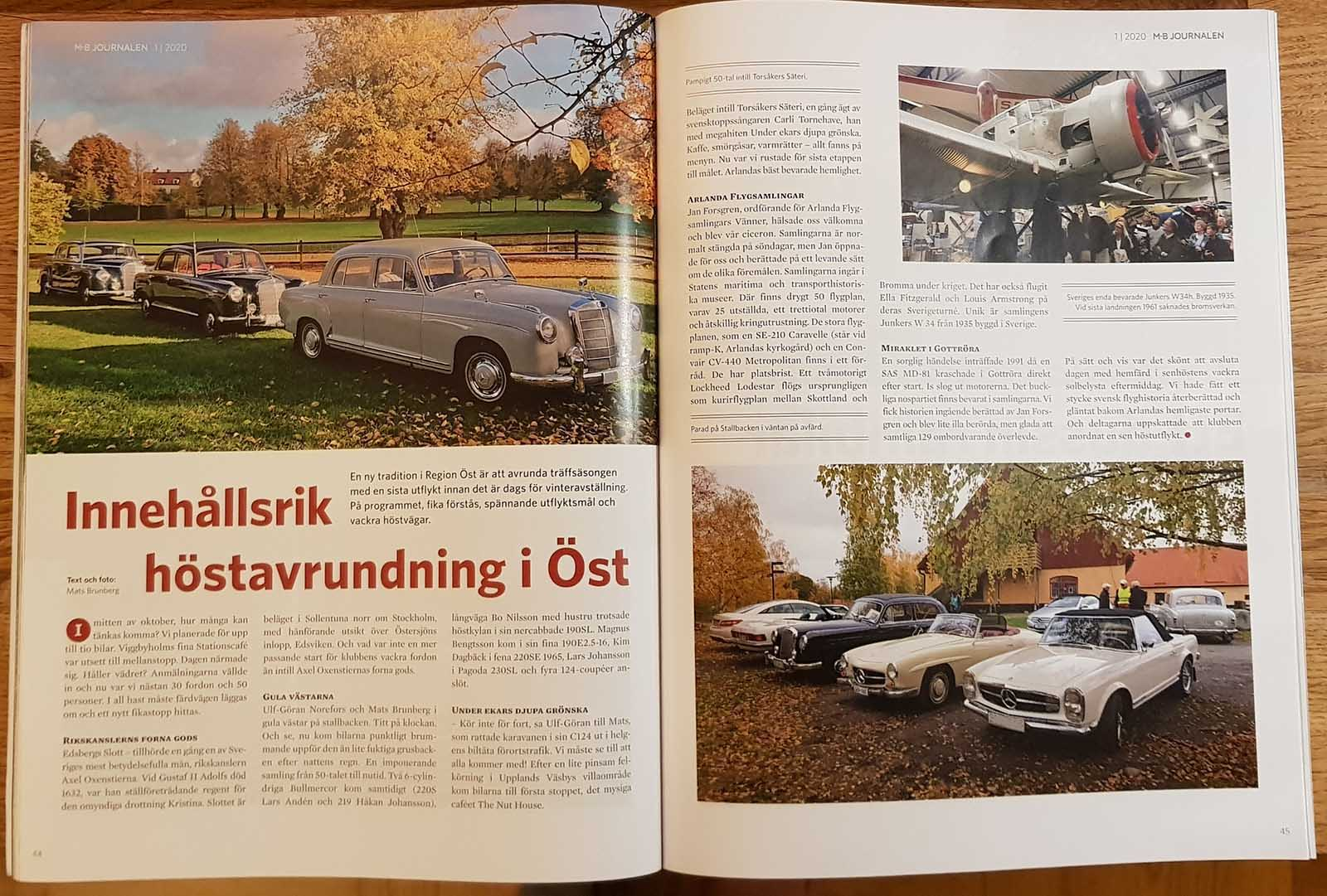 My Mercedes-Benz 219 Ponton -57 in MB Journalen, the club magazine of Mercedes-Benz Klubben Sverige