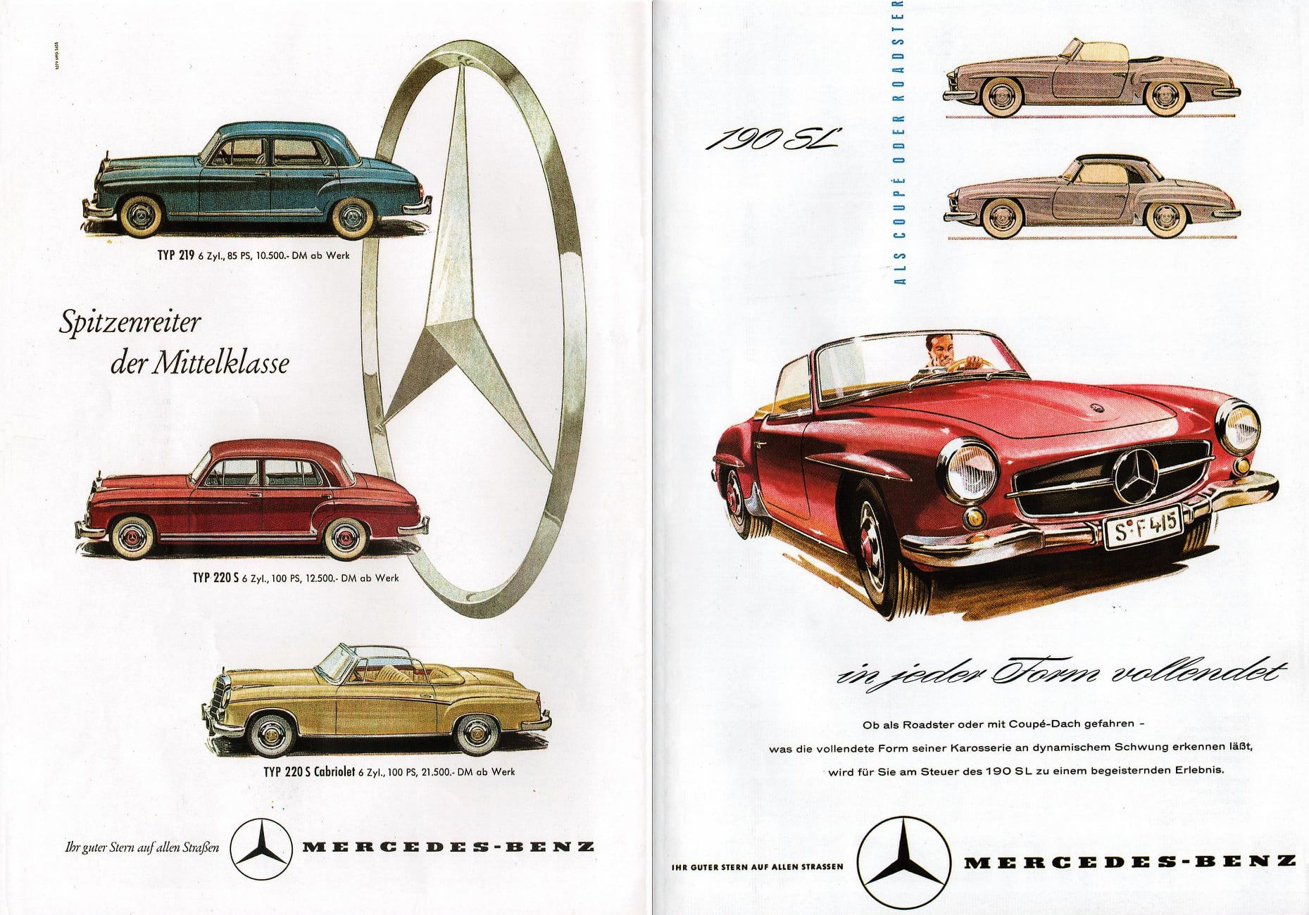 Mercedes-Benz models during the 50ies © Daimler AG